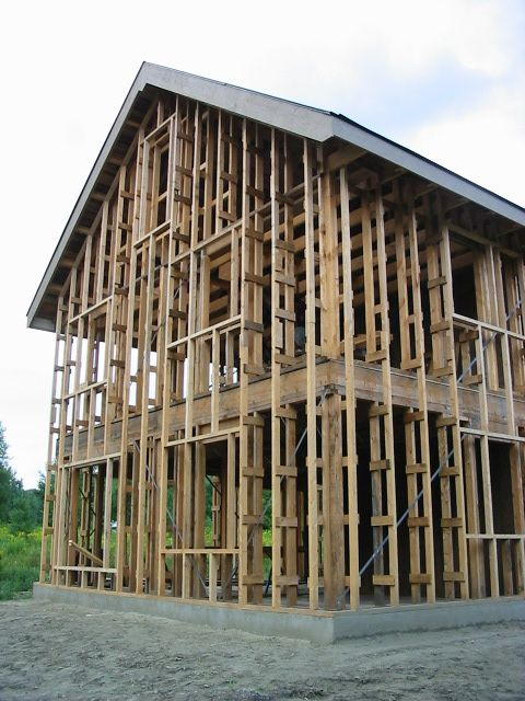 Riversong Truss Framing System - Native, Rough-Sawn, Green Lumber
