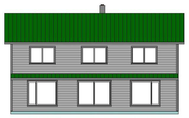 Main House - South Elevation