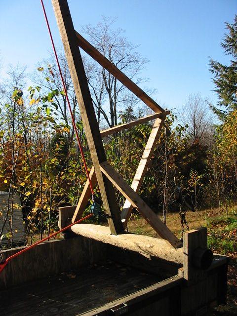 Jib Pole Crane : Improvised scaffolding cranes jacks riversong housewright