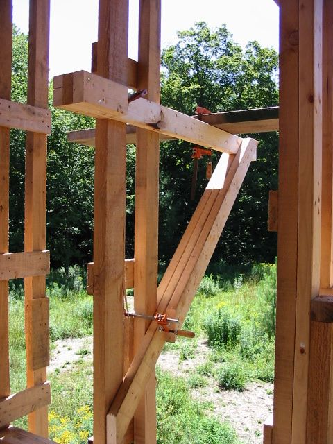 Wall Jacks For Framing 17. improvised scaffolding, cranes & jacks | riversong housewright