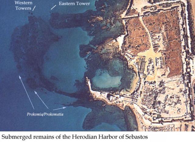 Submerged Remains of Sebastos Harbor