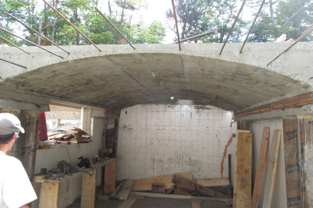 Vaulted Ceiling - Concrete Floor - ICF Walls