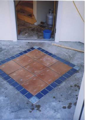 Tiled Entry Mudroom